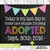 Adoption Announcement Sign, Adoption Gifts, Adoption Day, Editable Adoption