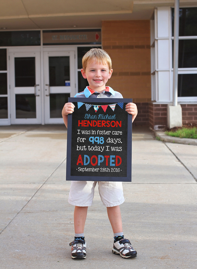 Printable Boy Adoption sign, Adoption Gifts, Foster Care, Adoption Announcement,
