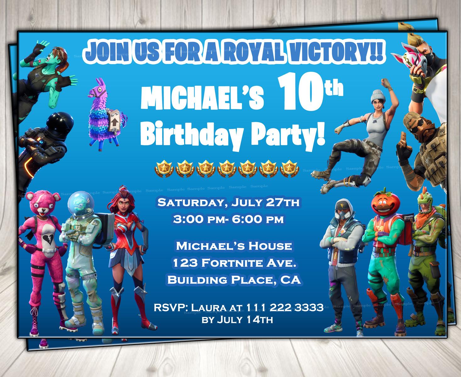 fortnite invitation invitation  fortnite by