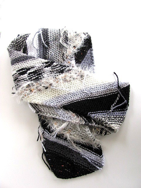 Black and White Magic Ball Scarf Free US Shipping