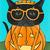 Basil Was a Pumpkin for Halloween Original Cat Folk Art Painting