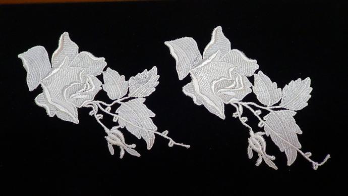 Rose Dangle Applique