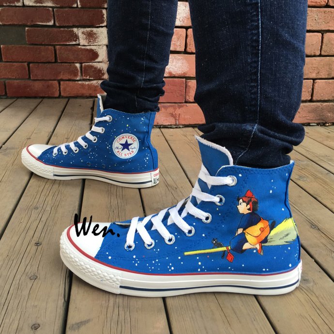 Wen Hand Painted Shoes Converse Kiki's Delivery Service High Top Men Women