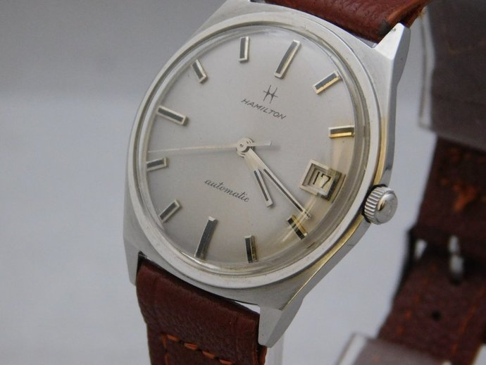5aabde5bd Pre-Owned Mens Hamilton Automatic Vintage 1960's Stainless Steel 33mm