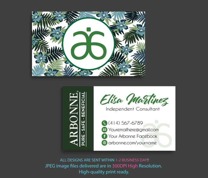 Arbonne Consultant Cards, Arbonne Business Cards, Business Cards, Free