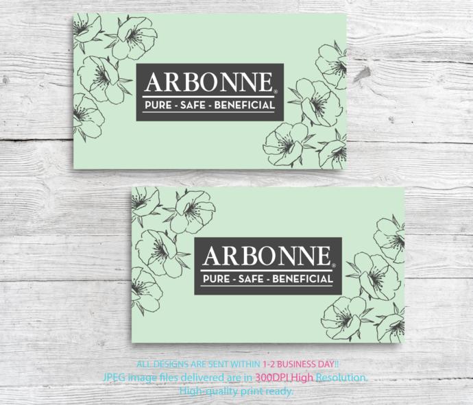 Arbonne Consultant Cards, Arbonne Business Cards, Business Cards, Free
