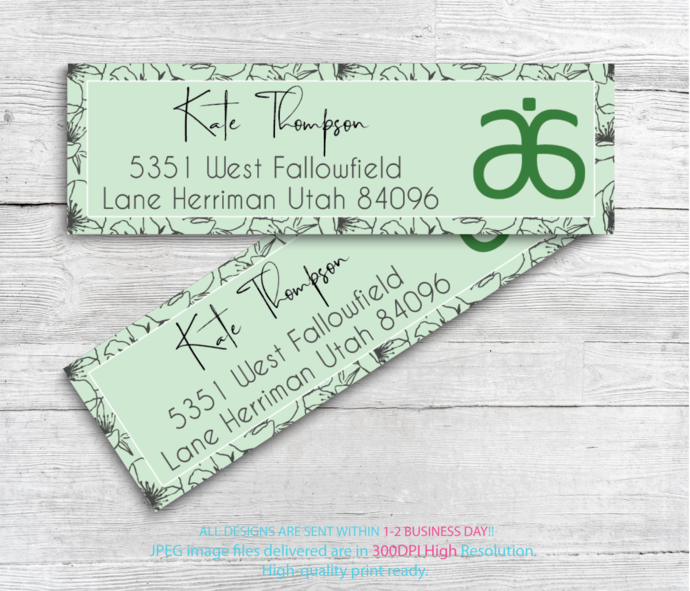 Arbonne Consultant Cards, Arbonne Address Labels, Personalized Return Address