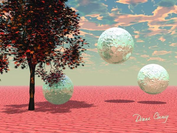 Peach Fantasy - Art Card, ACEO - Digital Painting