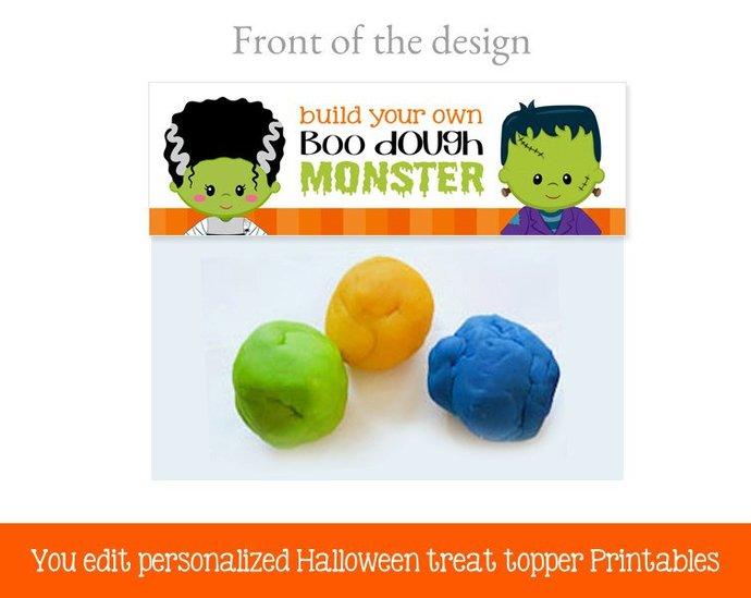 Halloween treat bag toppers, Halloween favors, Halloween Treat Bags, Halloween