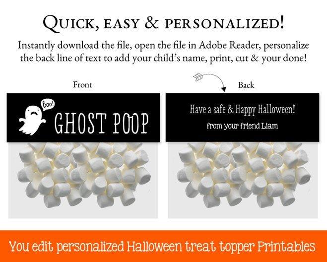 Halloween Treat Bag Toppers, Halloween Printables, Halloween Bag Toppers,