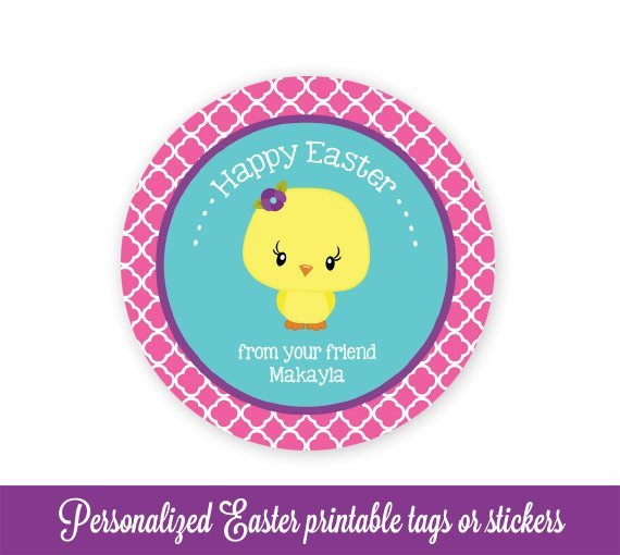 image about Printable Easter Tag titled Easter Reward Tags, Easter Like Tags, Easter Tags, Chick Easter Bag Tags, Easter Printable, Little ones Custom made Easter Tags, Editable PDF,