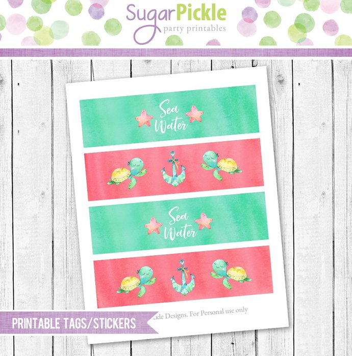 Mermaid Party Decorations, Mermaid Birthday Party, Mermaid Party printable set,