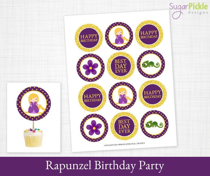Rapunzel Party Mini Set, Rapunzel Birthday Party Printable, Rapunzel Birthday,