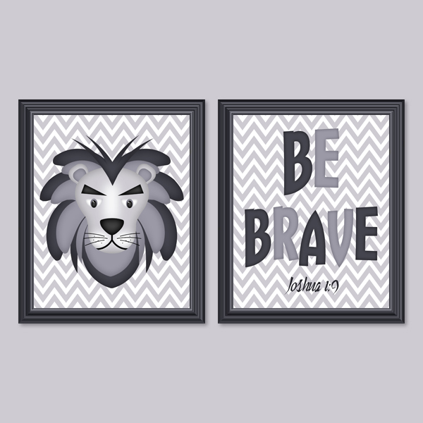 Be Brave Set 6 - Printable Wall Art