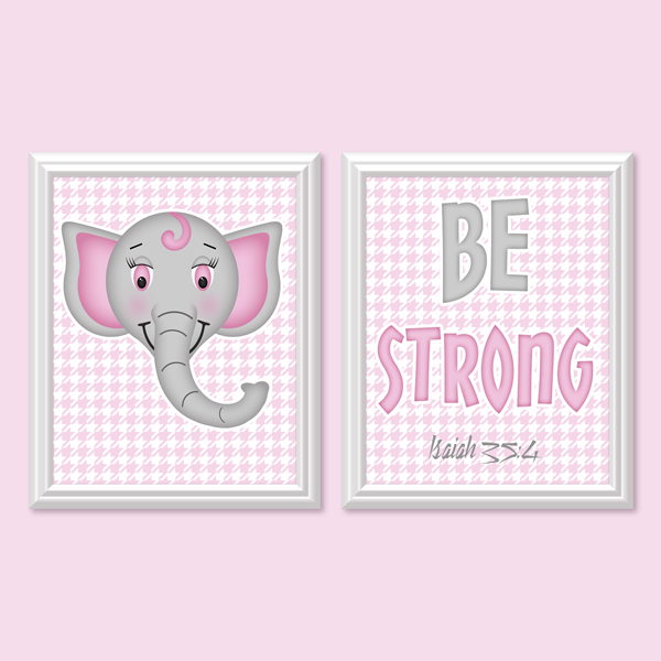 Be Strong _Pink Set - Printable Wall Art