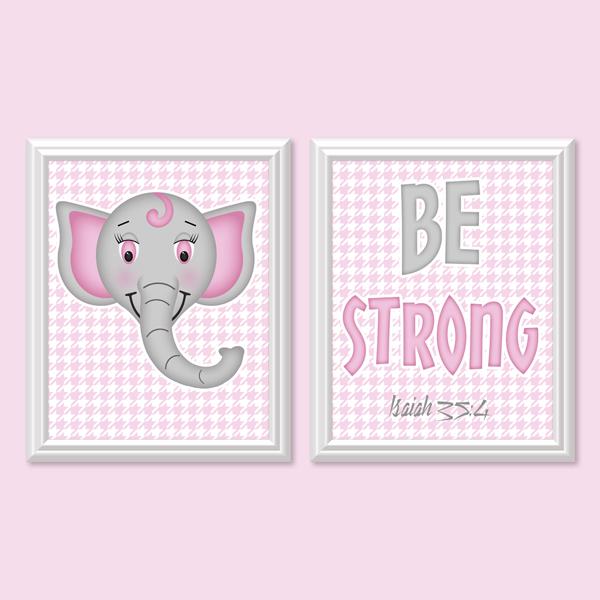 Be Strong _Pink Set - Printable Wall Art