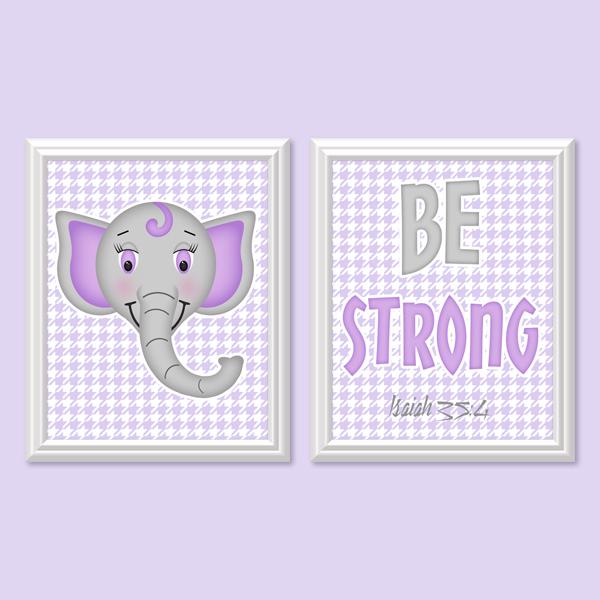 Be Strong _Lavender Set - Printable Wall Art