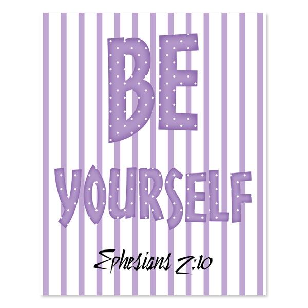 Be Yourself_Girl Set 5 - Printable Wall Art