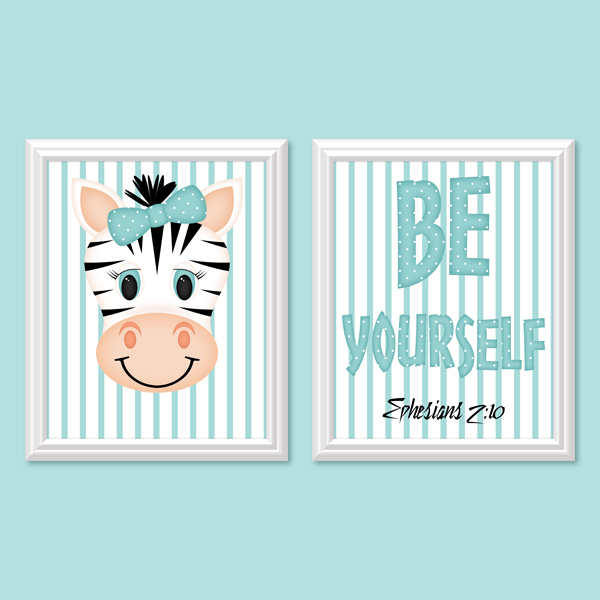Be Yourself_Girl set 4 - Printable Wall Art