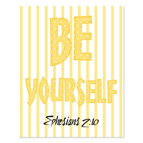 Be Yourself_Girl Set 3 - Printable Wall Art
