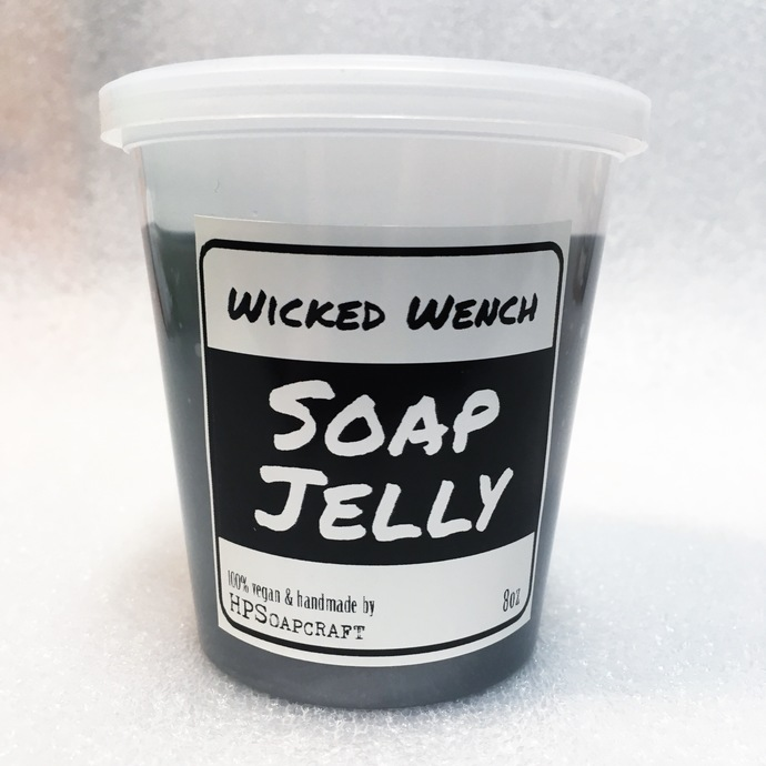 RTS Wicked Wench (Compare to Black Pearl®) Lush type Soap Jelly Vegan shower