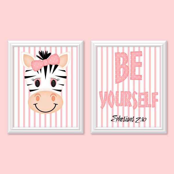 Be Yourself_Girl Set 1 - Printable Wall Art