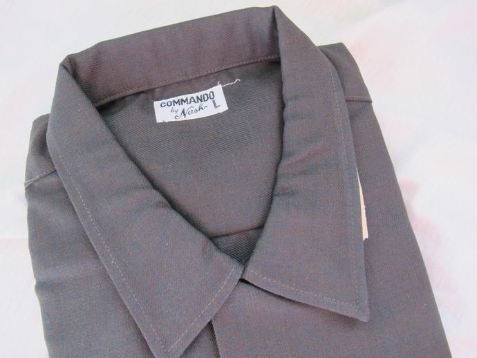Vintage new Commando by Nash Fortrel wool blend shirt (size Large) / Dark brown
