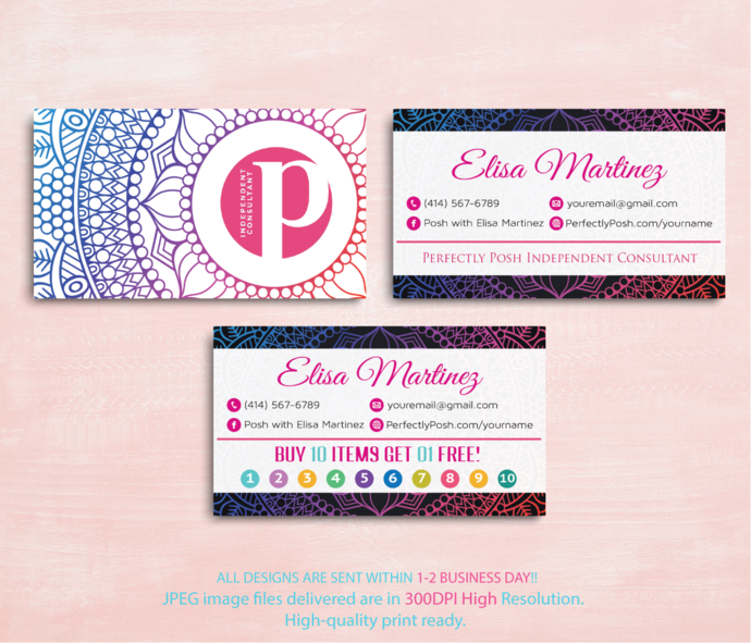 Perfectly Posh Consultant Business Cards By Digitalart On Zibbet