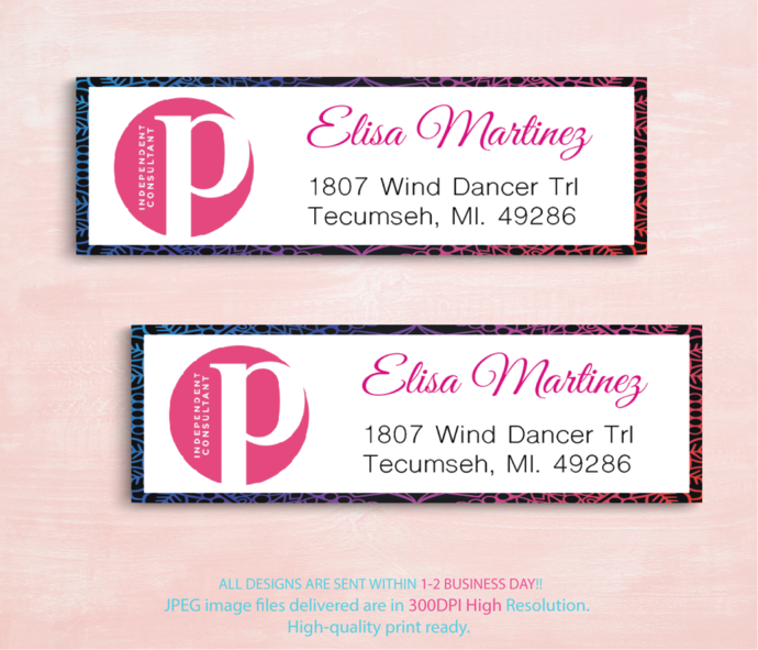 personalized perfectly posh return labels by digitalart on zibbet