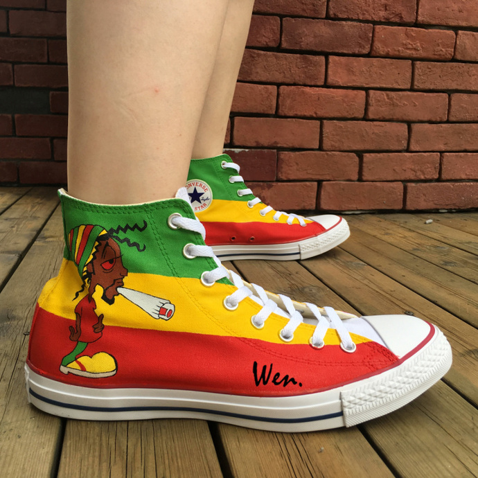 0d8b41010e52 ... Women High Top Fashion Shoes Unique Birthday Gifts. by Wenartwork. Custom  Shoes Reggae Music Converse All Star Wen Hand Painted Canvas Sneakers Men