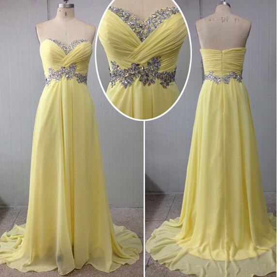 Chiffon Prom Dresses,Evening Dress,Sweetheart Prom Dress,Sequined Prom