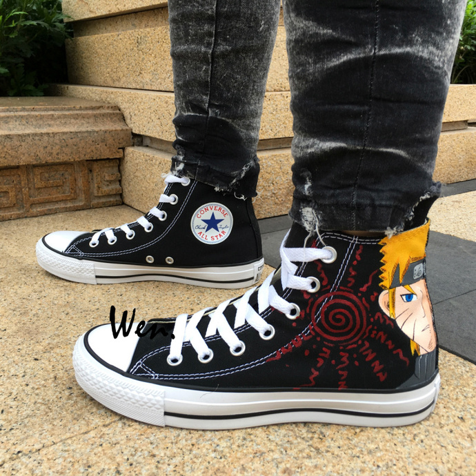 Custom Design Anime Naruto Gaara Hand Painted Shoes Converse All Star Men Women
