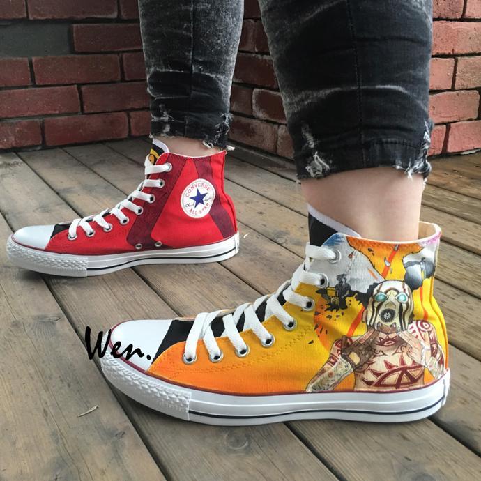 145d5ac58650 Custom Design Hand Painted Shoes Unisex Converse Chuck Taylor Borderlands 2  High