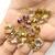 Beautiful !  925 Sterling Silver Faceted Natural Multi Semi Precious Color Royal
