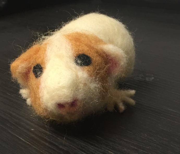 Needle Felted Custom Guinea Pig