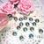 "10pc Iridescent Flatback Pearl - 3/8"" stl"