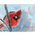 Cardinal Panting , Small 5x7 inches, Perfect for the Bird Lover or Enthusiast,