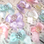 "10pcs Shabby Chic Satin Ribbon Bow w Center- 1"" White, Cream, Pink, Lavender,"