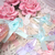 "10pcs Shabby Chic Satin Ribbon Bow w Rose Center- 1 1/2"" White, Pink, Lavender,"