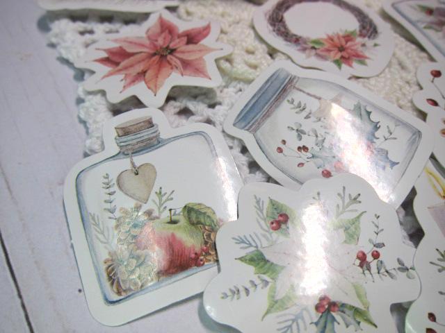 Christmas Stickers Clip Art Ephemera 45pcs Watercolor - Journal, TN, Medori,