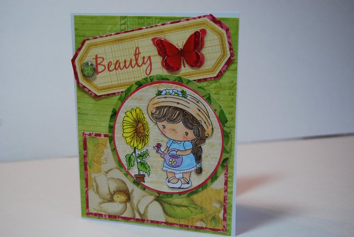 Handmade greeting card beauty candibean by smiles4paper on zibbet handmade greeting card beauty candibean little darlings stamp grown with m4hsunfo
