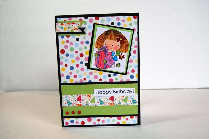 Handmade birthday greeting card happy by smiles4paper on zibbet handmade birthday greeting card happy birthday penny black stamp sealed with m4hsunfo