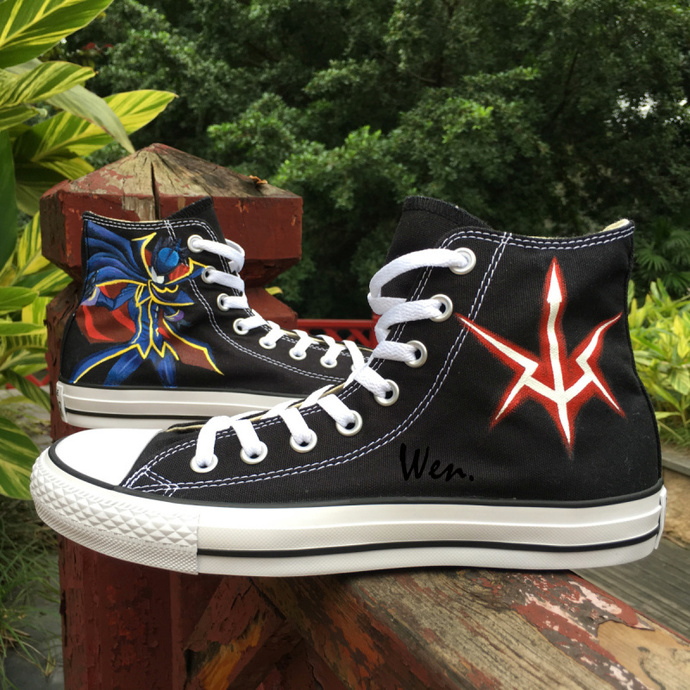 662a500531 Design Custom Hand Painted Shoes Anime Converse Code Geass Black High Top  Canvas