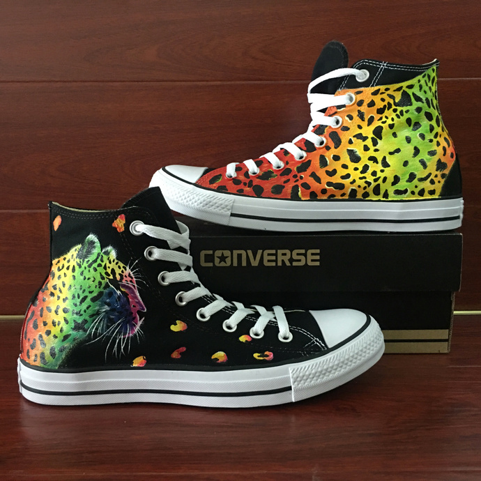 Original Design Cheetah Leopard High Fashion Converse Chuck Taylor Hand Painted