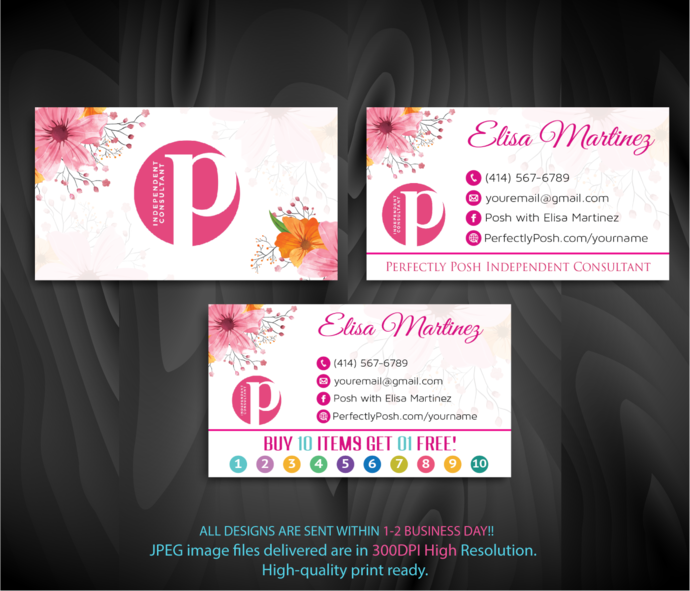 Perfectly posh consultant business cards by digitalart on zibbet perfectly posh consultant business cards perfectly posh business cards punch colourmoves
