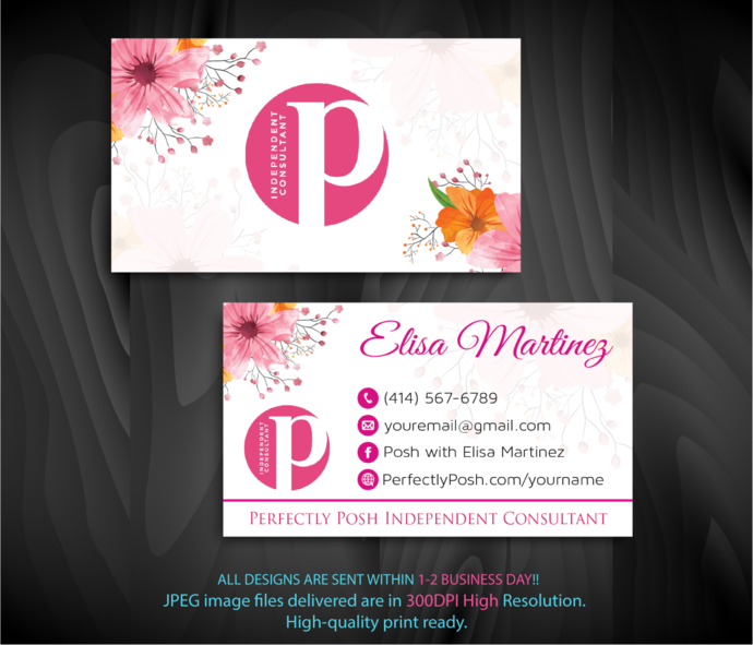 PERFECTLY POSH Consultant Business Cards, Perfectly Posh Business Cards, Punch