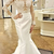Marvelous Satin Jewel Neckline Backless Mermaid Prom Dresses With Appliques