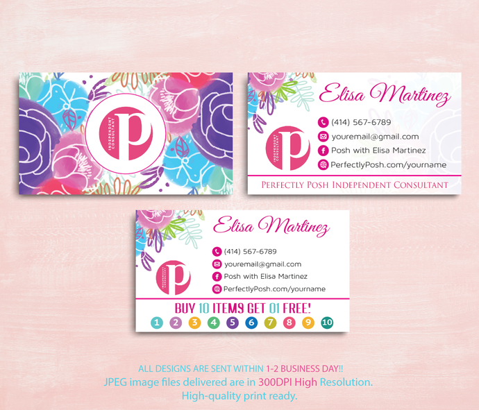 Perfectly posh consultant business cards punch by digitalart on perfectly posh consultant business cards punch cards perfectly posh business colourmoves