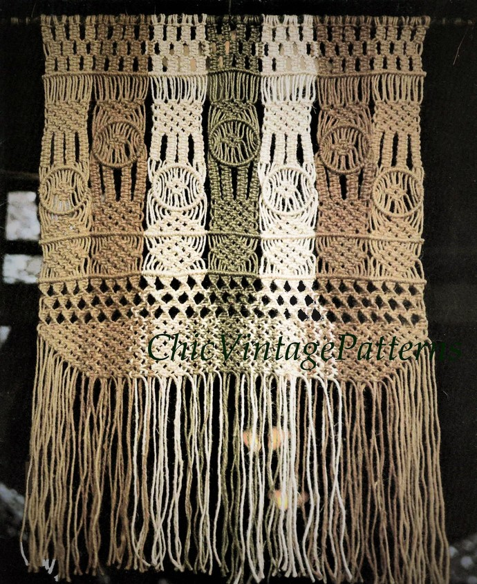 Macrame Wall Hanging Macrame Wall By Chicvintagepatterns On Zibbet