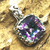 STUNNING ! SOLID 925 STERLING SILVER LOVELY MYSTRIC QUARTZ PENDANT JEWELRY